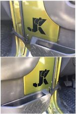 Set of 2 - CLIMBING JEEP on JK - Vinyl Decal / Sticker for Jeep Wrangler Fender
