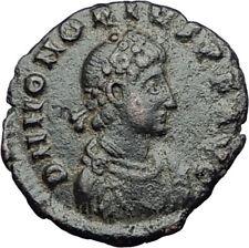 HONORIUS on Horse 392AD Original Genuine Authentic Ancient Roman Coin i65014