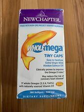 New Chapter Wholemega Extra-Virgin Whole Fish Oil Tiny Caps 500 mg 180 Softgels