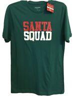"North Pole Trading Company Green ""Santa Squad"" Unisex Small Short Sleeve Shirt"