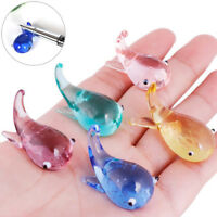 Mini Whale Shaped Crystal Glass Dip Pen Holder Sign Craft Collection Gift