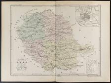 1855 - Carte ancienne du département du Tarn, par Dufour