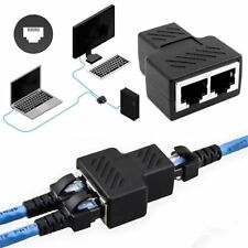 RJ45 Splitter Adapter 1 to 2 Ways Dual Female Port CAT5/6 LAN Ethernet Cable