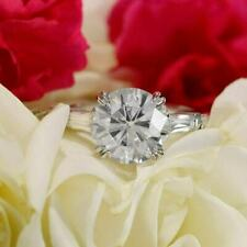 Solitaire Engagement Ring 14k White Gold Certified 3 Stone 3Ct Round Moissanite