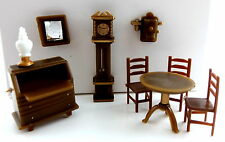 Dolls House Miniature 1:48 Scale Plastic Study Office Furniture Set