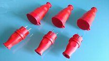 Set Stecker und Kupplung ! Gummi Kupplung und Gummi Stecker IP44 Rot 10 Tlg
