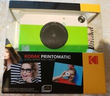 Kodak PRINTOMATIC Digital Instant Print Camera *NEON GREEN* BNIB - COLOR PRINTS