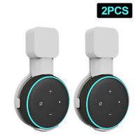 2PCS Outlet Wall Mount Holder Bracket For Amazon Echo Dot 3rd Generation White