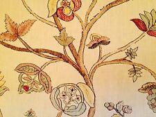 PENNY MORRISON CLAREMONT Begum printed linen pink floral new remnant