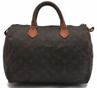 Authentic Louis Vuitton Monogram Speedy 30 Hand Bag M41526 LV B6498