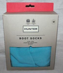 Hunter Original Short Boot Socks Women size Medium M Pale Blue Turquoise US 5-7