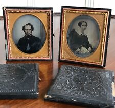 Two Antique American Ambrotype / Daguerreotype Photographs. Holmes, New York.