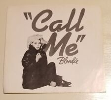 BLONDIE - 45 PROMO PICTURE SLEEVE ONLY - CALL ME / CALL ME INSTRUMENTAL - 1980