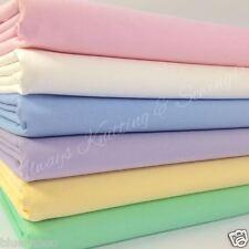 6 FAT QUARTER BUNDLE plain pastels lemon, ivory, pink.... 100 % cotton fabric