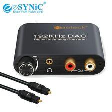 Convertisseur Audio numérique-analogique eSYNiC DAC Fiber optique Toslink SPDIF