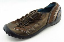 Privo by Clarks Size 7 M Brown Elastic Fashion Sneakers Leather Wmn Shoe
