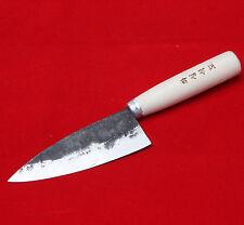 11cm Blade Rail Cast Iron Forged Knife Sashimi Deba Chef Kitchen Hand Made Korea