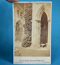 1870s CDV Carte De Visite Melrose Abbey Nave & North Aisle Scotland GW Wilson