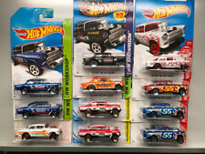 Hot Wheels '55 Chevy Bel Air Gasser Lot Of 11 cars. Target Red Flames Heat Isky