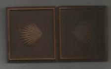 Daguerreotype- SHELLS ON CASE- 3 1/2 X 3 1/2- ONE HINGE LOOSE- SEE NOTE BELOW