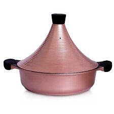 Moroccan NonStick Stone Derived Tajine Pot pan with Lid 28cm casserole Induction