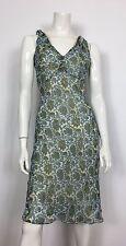 Blunauta abito vestito seta floreale estivo 42 leggero usato donna vintage T1879