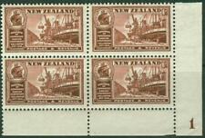 New Zealand. 1936. Commerce. 6d. Plate Block. MUH.