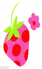 """5.5"""" Strawberry shortcake strawberries vintage fabric applique iron on character"""