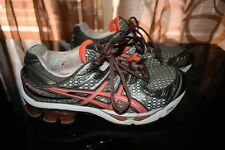 Asics Gel Kinetic 4 T183N Running Shoes Womens Sz 8M Silver Gray Coral
