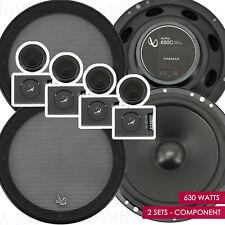 "Infinity Alpha 650C 6.5"" 2-Way MAX 630 Watts Car Audio Component Speakers 2 Sets"