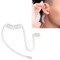 Surveillance Coiled Security Acoustic Tube Ear Tip For Earphone Earpiece Headset