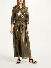 Swildens Sage Metallic Dress Gold UK14 Brand New With Defect RRP £260!!!
