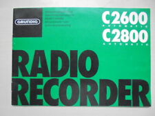 alte Bedienungsanleitung GRUNDIG C2600 / C2800 Automatic Radio Recorder + Schal