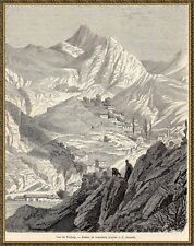 Antique print Torbalı Torbaly Izmir Turkey Turkije 1861