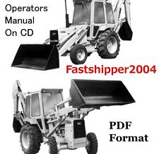 Ford 555A Tractors Loader Backhoe Operators Owner Manual Operation Maintenance