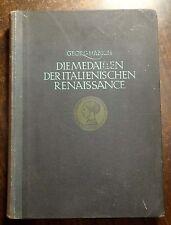 Die Medaillen Der Italienischen Renaissance RARE BOOK 1922 Georg Habich ILLUS.