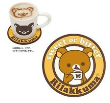 San-X Rilakkuma Relax Bear Soft Rubber Cup Mug Heat-Proof Mat hot pad Round