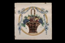 Antique Faience/ Cloisonné Ceramic Tile, Circa 1900, England.