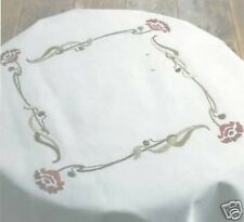 ART NOUVEAU ROSE Traced Nappe Kit Broderie