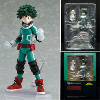 "6"" My Hero Academia Izuku Midoriya Action Figure Figma 323 Anime Toy Gift In Box"