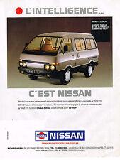 PUBLICITE ADVERTISING 114  1989  NISSAN  la  VANETTE COACH D 2L