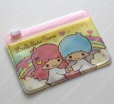 Sanrio Little Twin Stars Rainbow Yellow Card Holder zip bag