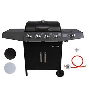 Gasgrill Gas Grill BBQ Barbecue Gartengrill Grillwagen Standgrill TÜV 4+1Brenner