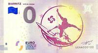 BILLET 0  EURO BIARRITZ CITE DE L'OCEAN FRANCE  2018  NUMERO 100