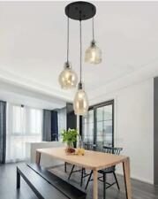 Modern 3-Light Cognac Glass Cluster Chandelier Home Ceiling Hanging Pendant Lamp