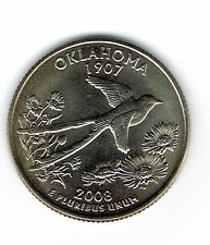 2008-D Brilliant Uncirculated US Oklahoma 46TH State Quarter Coin!