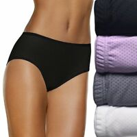 Fruit of the Loom 5 Breathable Micro Mesh Low Rise Briefs Womens LG Colors VARY