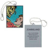 Zombieland Travel Tag Geocaching Trackable Anhänger Nummer