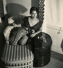 Black Hollywood Starlet & Model Vera Francis Original 1950s Pin-Up Photograph