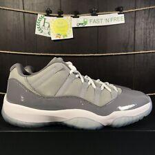 Nike Air Jordan 11 Retro Low Cool Grey White Gunsmoke Clear 528895 003 Size 10 B